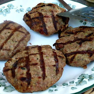 Savory Turkey Burgers with Bread Crumbs