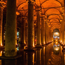 Basilica cistern by Darko epa Trajkovski - Buildings & Architecture Public & Historical ( long exposure, cistern, turkey, istanbul, basilica )
