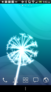 Dandelion Glow Live Wallpaper - screenshot