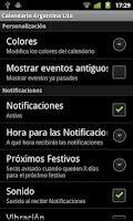 Screenshot of Calendario Feriados Argentina