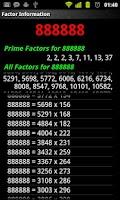Screenshot of Maths Multiplication Factors