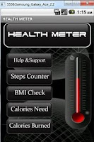 Screenshot of Health Meter