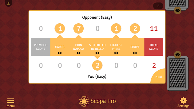 Scopa Pro APK screenshot thumbnail 4