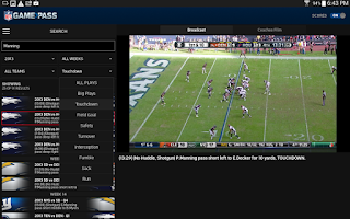 Screenshot of NFL Game Pass