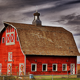 Big Red Barn by Terry Ricks - Buildings & Architecture Other Exteriors ( red barn, barn, colorado, western colorado, barns )