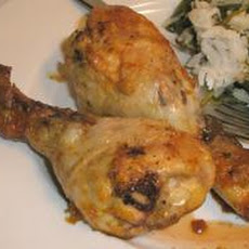 Grilled Chicken Legs With Orange and Rosemary