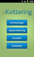 Screenshot of eKvittering