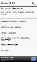 Screenshot of IRPF - Imposto de renda 2012
