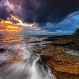 The Dusk is coming by Budi Astawa - Landscapes Sunsets & Sunrises ( bali, cupel, baluk, jembrana )