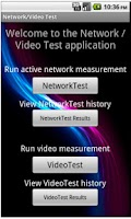 Screenshot of Video/Network Speed Test