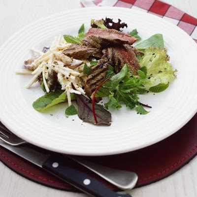 Pan-fried Steak & Parsnip Salad