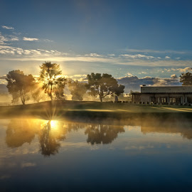 Padre Sunrise 07 by Dave Sansom - Landscapes Sunsets & Sunrises ( scottsdale, dave sansom, golf course, camelback, beautiful skies, golf course photography, marriott, arizona, pictures of golf courses, padre, landscape, phoenix )