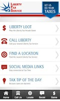 Screenshot of Liberty Tax App