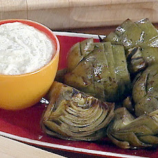 Grilled Artichokes with Grilled Lemon Mayonnaise