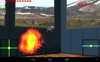 Screenshot of Indoor Heli Fight 3D Free