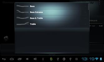 Screenshot of Poweramp skin Black Petrol