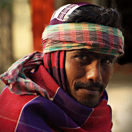 Madhav by Prasanta Das - People Portraits of Men ( farmer, proud, portrait )