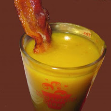 Butternut Squash Soup Shots With Candied Bacon