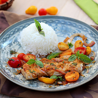 Sauté Pork with Tomatoes