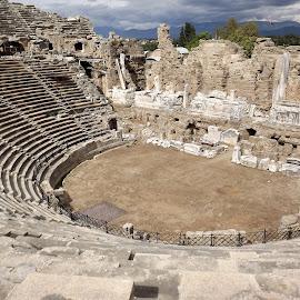 Ancient Side Amphitheatre by Dražen Komadina - Buildings & Architecture Public & Historical ( ancient side amphitheatre )