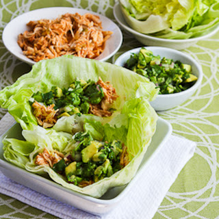 Slow Cooker Spicy Shredded Chicken Lettuce Wrap Tacos (or Tostadas ...