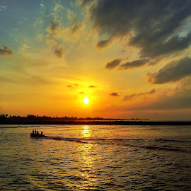 Boat and Sunset by Mude Angkasa - Instagram & Mobile Android