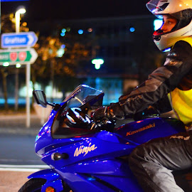 Night rider by Jonathan Kubiak - Transportation Motorcycles
