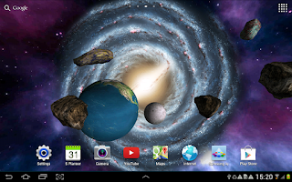Screenshot of 3D Galaxy Wallpaper