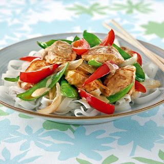 Nutty Red Chicken Stir Fry