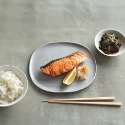 Nobu's Crispy-Skinned Salmon with Daikon and Soy