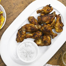 Spicy Wings With Blue Cheese Sauce