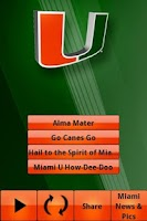 Screenshot of Miami Hurricanes Gameday