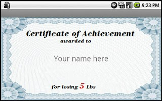 Screenshot of Losing Weight Awards
