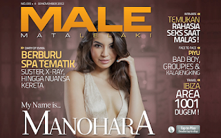 Screenshot of MALE Magazine