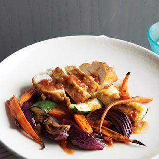 Roast Chicken Zucchini Carrots Onions Recipes