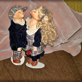 The Kissing Dolls 11 by Yvonne Collins - Artistic Objects Toys