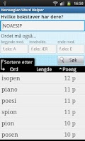 Screenshot of Norwegian Word Finder