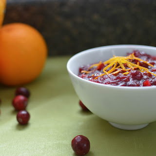Fresh Cranberry Sauce with Orange Zest