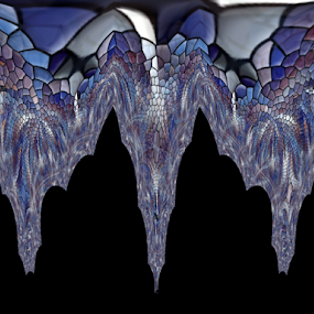 Stalactites  by Tina Dare - Illustration Abstract & Patterns ( abstract, patterns, designs, blues, shapes )