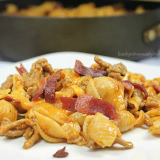 Lightened Up Bacon Cheeseburger Pasta