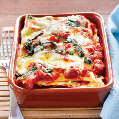Pumpkin And Spinach Individual Lasagnes