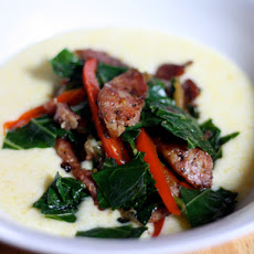 Dinner Tonight: Sautéed Andouille and Greens With Grits