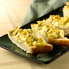 Easy Cheesy Artichoke Bread
