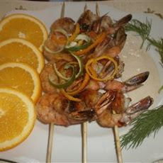 Spicy Shrimp Skewers