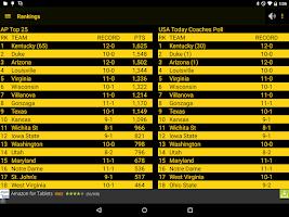 Screenshot of Hawkeye Basketball Schedule