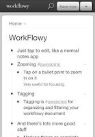 Screenshot of WorkFlowy