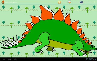 Screenshot of Burt's Dinosaurs Coloring Book