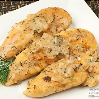 Chicken with Sour Cream-Dill Sauce