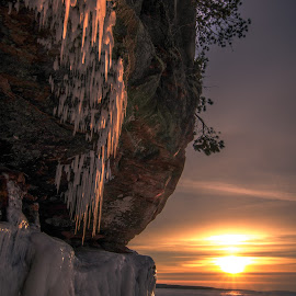 Nightfall at the Ice Caves by Gary Hanson - Landscapes Caves & Formations (  )