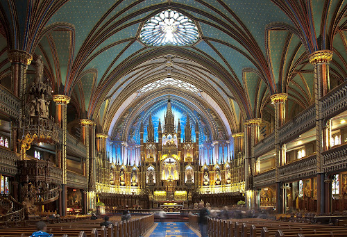 Basilique Notre-Dame de Montréal by Ivan Anchev - Buildings & Architecture Places of Worship ( interior, montreal, quebec, canada, church, notre-dame, basilique )